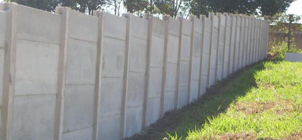 muro de betao placas de cimento